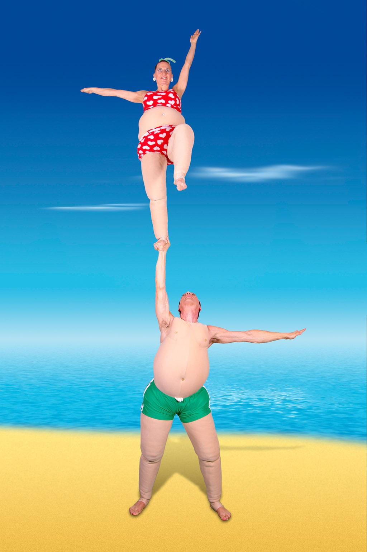 XXL Akrobatik-Sow, Duo Scacciapensieri, www.artistik.ch